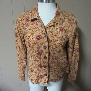 Christopher & Banks S Corduroy Floral Jacket